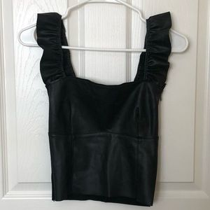 Zara Faux Leather Crop Top